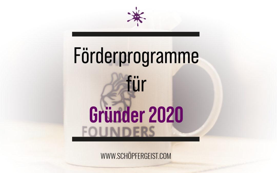 Förderprogramme für Gründer 2020