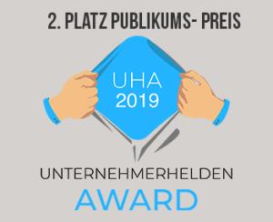 2. Platz Publikums-Preis Unternehmerhelden Award