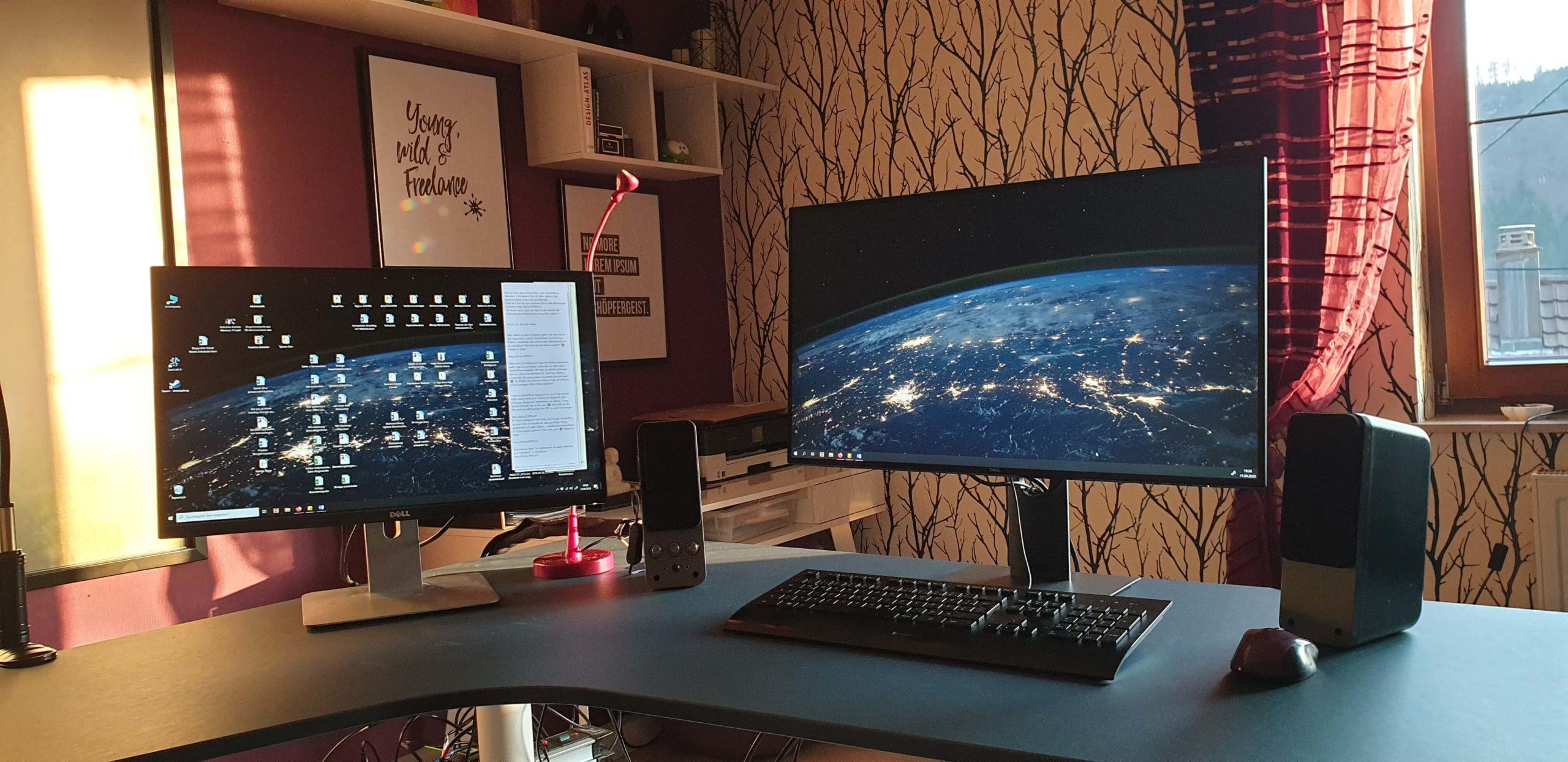 Ein neuer Monitor war fällig! Selbstständig online arbeiten mit Höhen und Tiefen: Ein Jahresrückblick auf 2020 von Schöpfergeist Anne Retter.