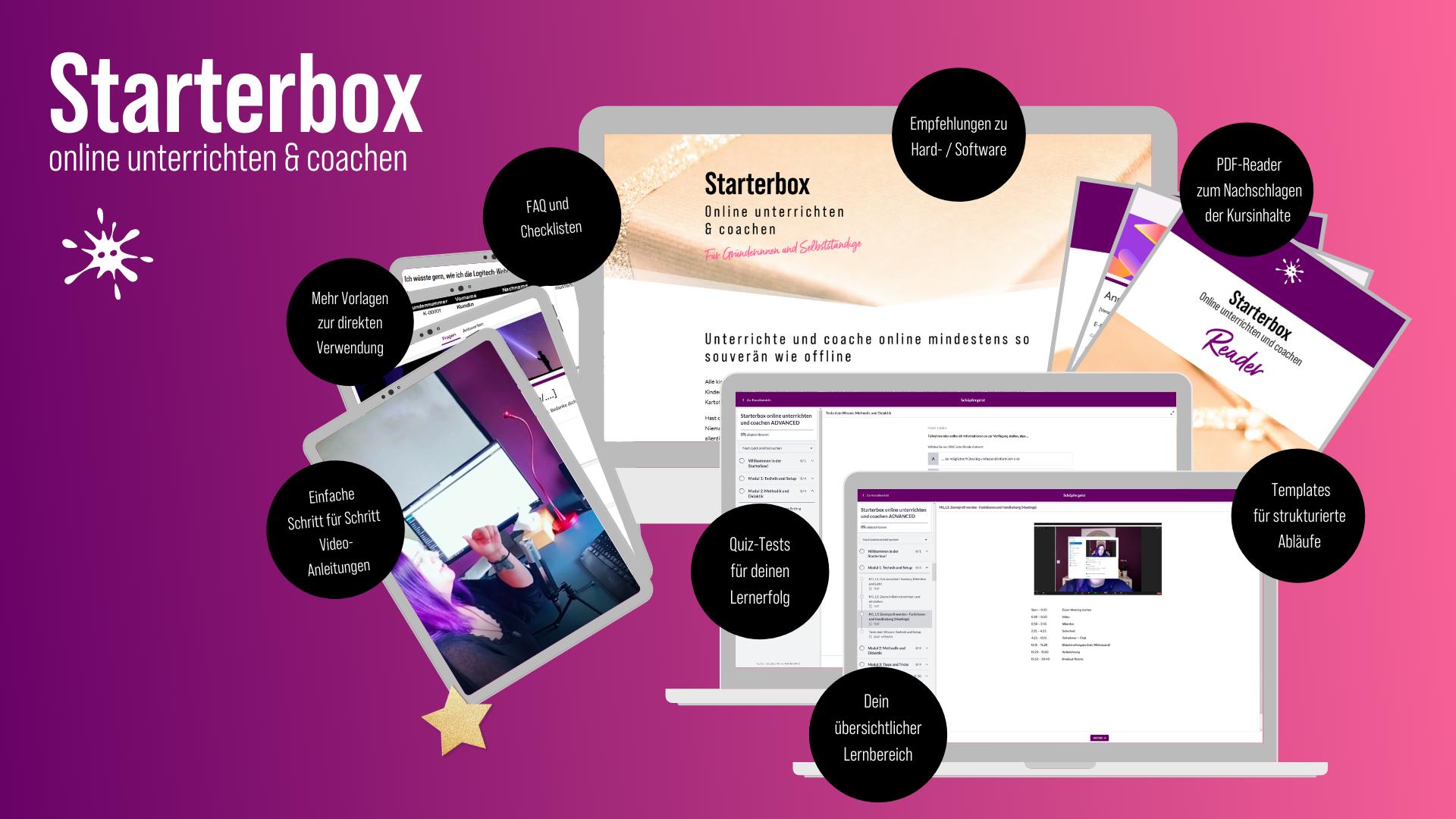 Selbstständig im Netz: Starterbox online unterrichten und coachen